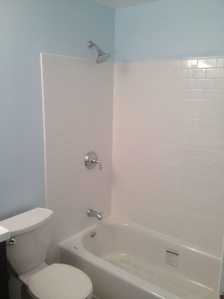 Create a Waterproof Bathtub Wall for Less than $50   Counter tops ...
