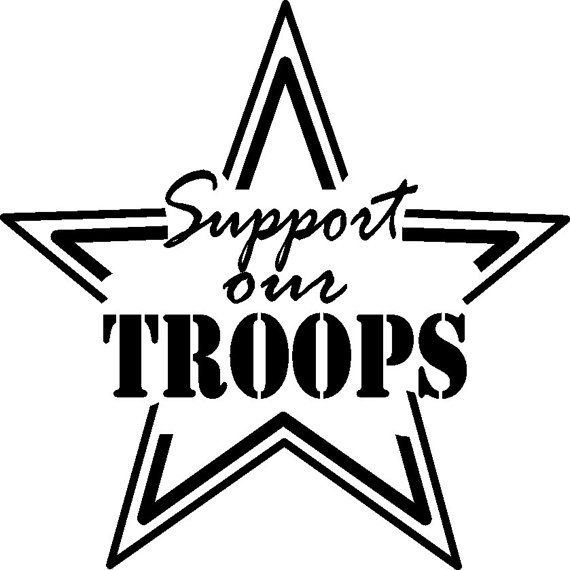 support our troops car decal 7 x 7 by vinylreflections   12 00