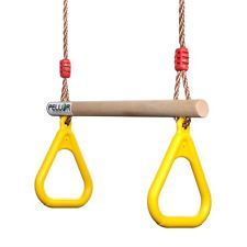 Kid Gymnastic Rings Training Fitness Swing Set Combo Children Trapeze Strength