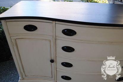 antique bow front buffet makeover, painted furniture, repurposing upcycling, rustic furniture