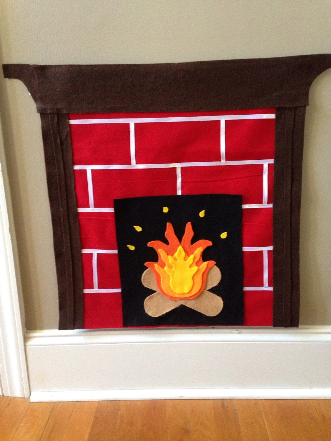 Felt Fireplace Christmas Tree Fireplace Felt Christmas