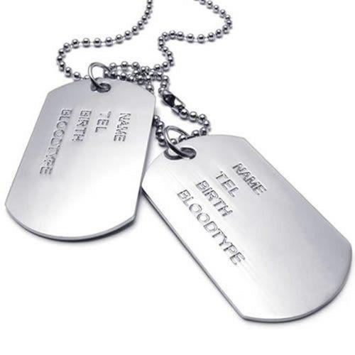 konov bijoux pendentif collier homme cha ne 68 cm plaque militaire nom pr nom dog tag. Black Bedroom Furniture Sets. Home Design Ideas
