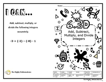 Math 6.3D STAAR Readiness Review Booklet by The Mighty