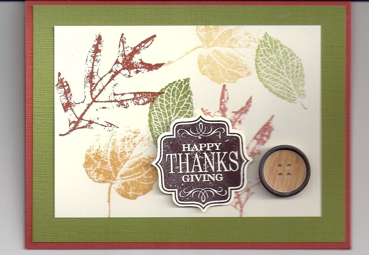 Lot Of 4 Pretty Handmade Happy Thanksgiving Cards Made Wstampin Up