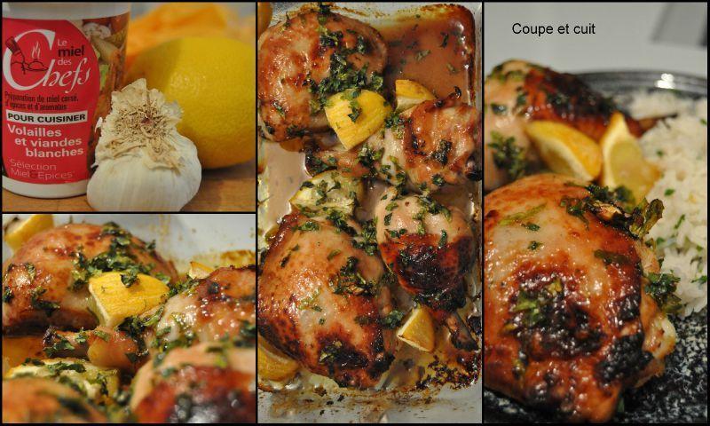 Poulet à l'ail, au citron et au miel épicé