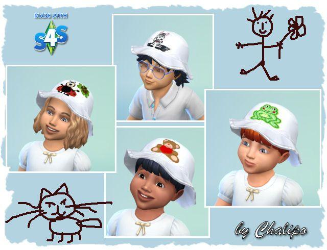 Kleinkinder Hut - Toddler hat - Sims4 - Accessoirs - All4Sims.de