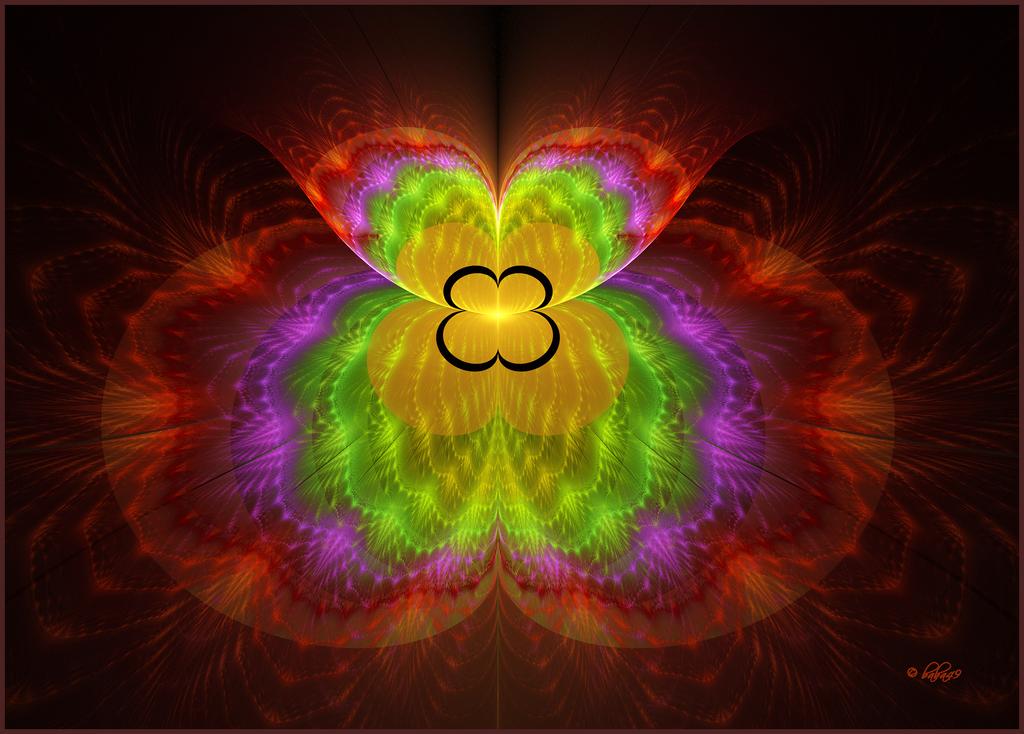 Apophysis and 's Spiderforms script A color tweak of