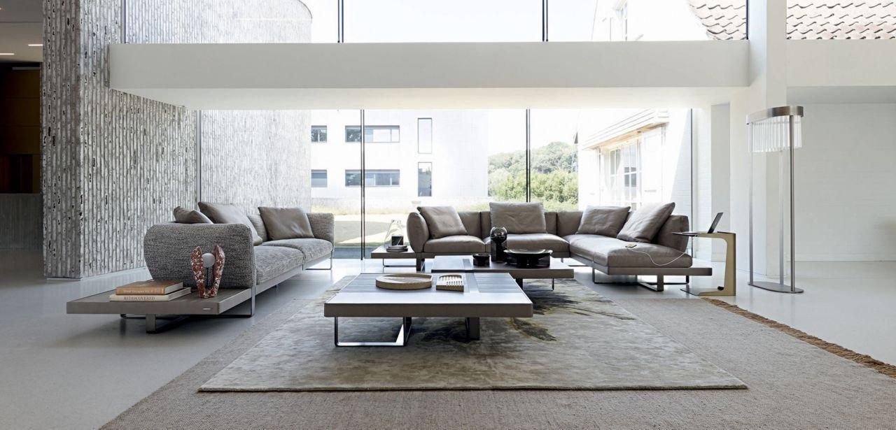 Upholstered In Riviera Leather Full Grain Cowhide Aniline Finish Seat Cushions In Hr Bi Density Foam 40 45kg M Fabric Sofa Design Furniture Furniture Design
