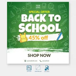 تصميمات سوشيال ميديا جاهزة للتعديل Social Media Post Post Templates Back To School Special
