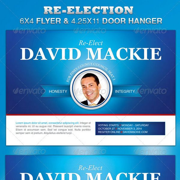 re election flyer door hanger template project references