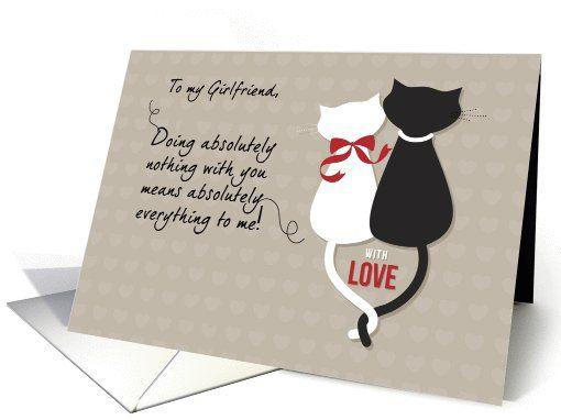Cats Girlfriend Anniversary Love Card Anniversary Cards For Wife Cards Wedding Anniversary Cards