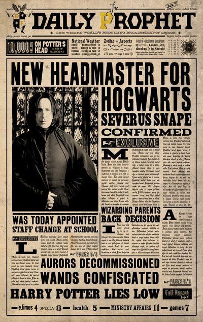 New paper Poster printable Harry Potter | Harry Potter Printable