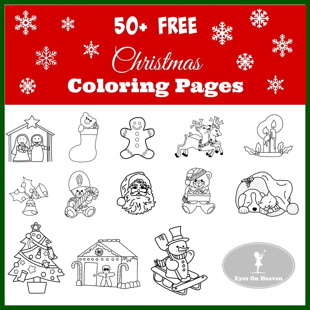 Free Christmas Coloring Pages | Snowman, Stockings and Wreaths