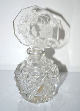 Morlee Czech Genuine Crystal Perfume Bottle - $65
