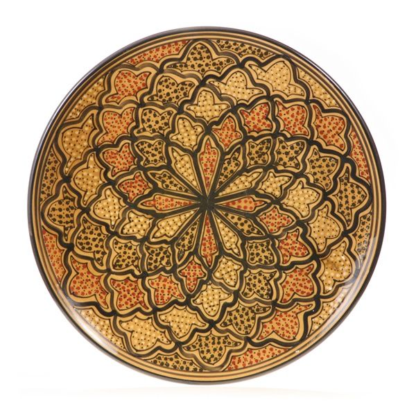 This lovely piece of Tunisian pottery will add Mediterranean decor to your home. All our Tunisian decorative serving platters are ...  sc 1 st  Pinterest & Amber Glow 15