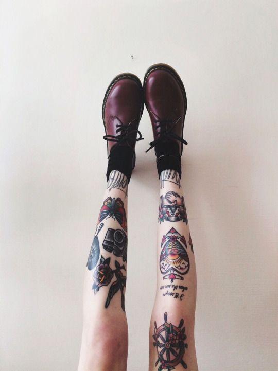 Tattoos And Doc Martens Tattoo Tattoos Leg Tattoos