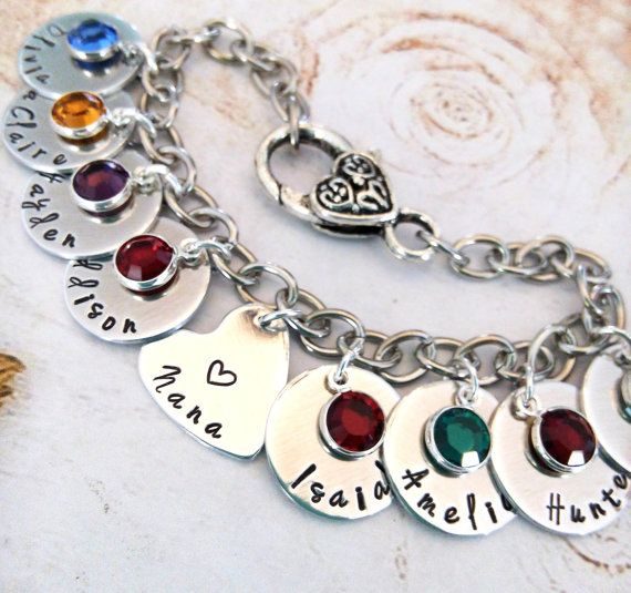 Personalized Nana Bracelet Hand Made Grandma Gift Jewelry For Custom