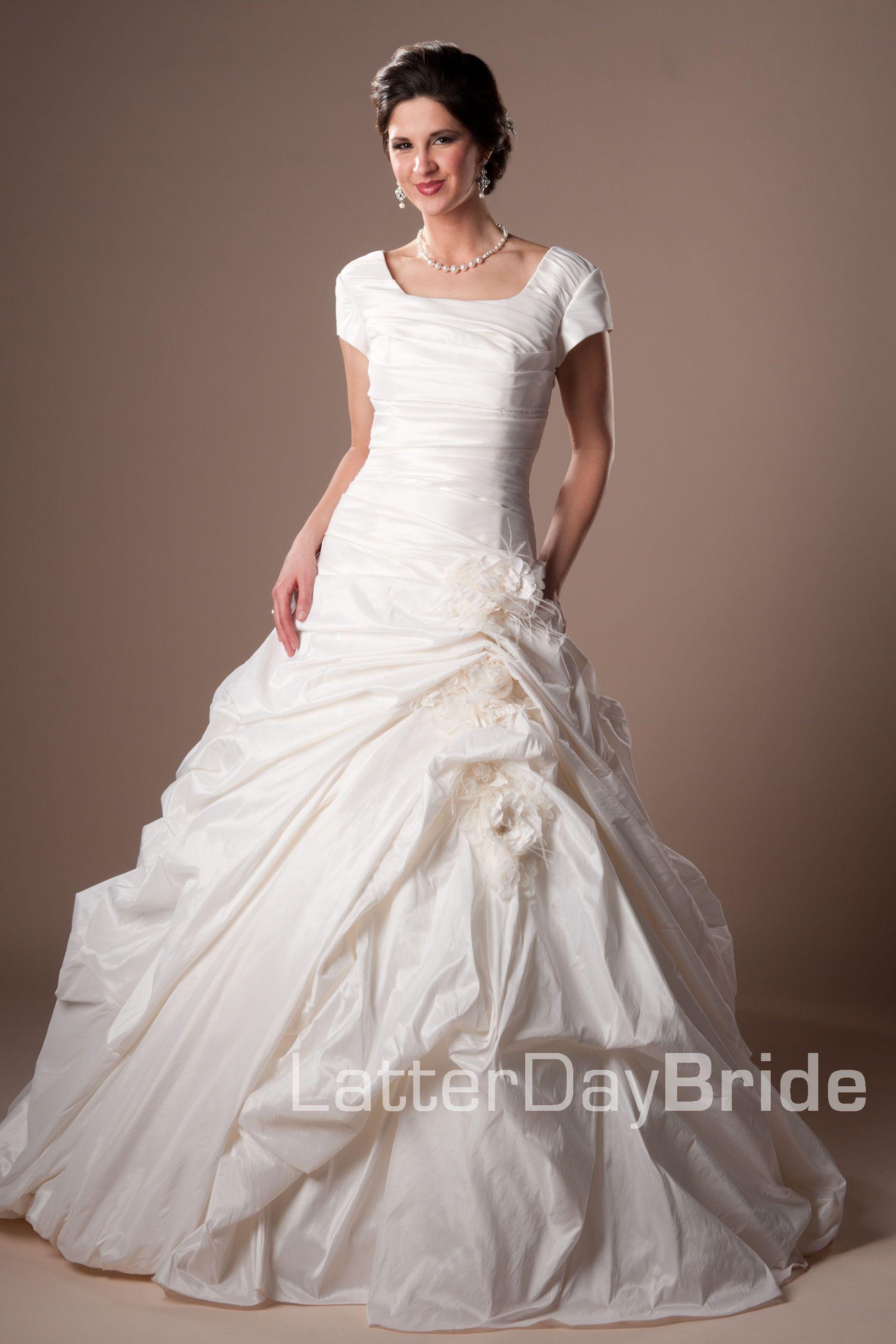 Modest Wedding Dress, Helene | LatterDayBride & Prom. Modest Mormon ...