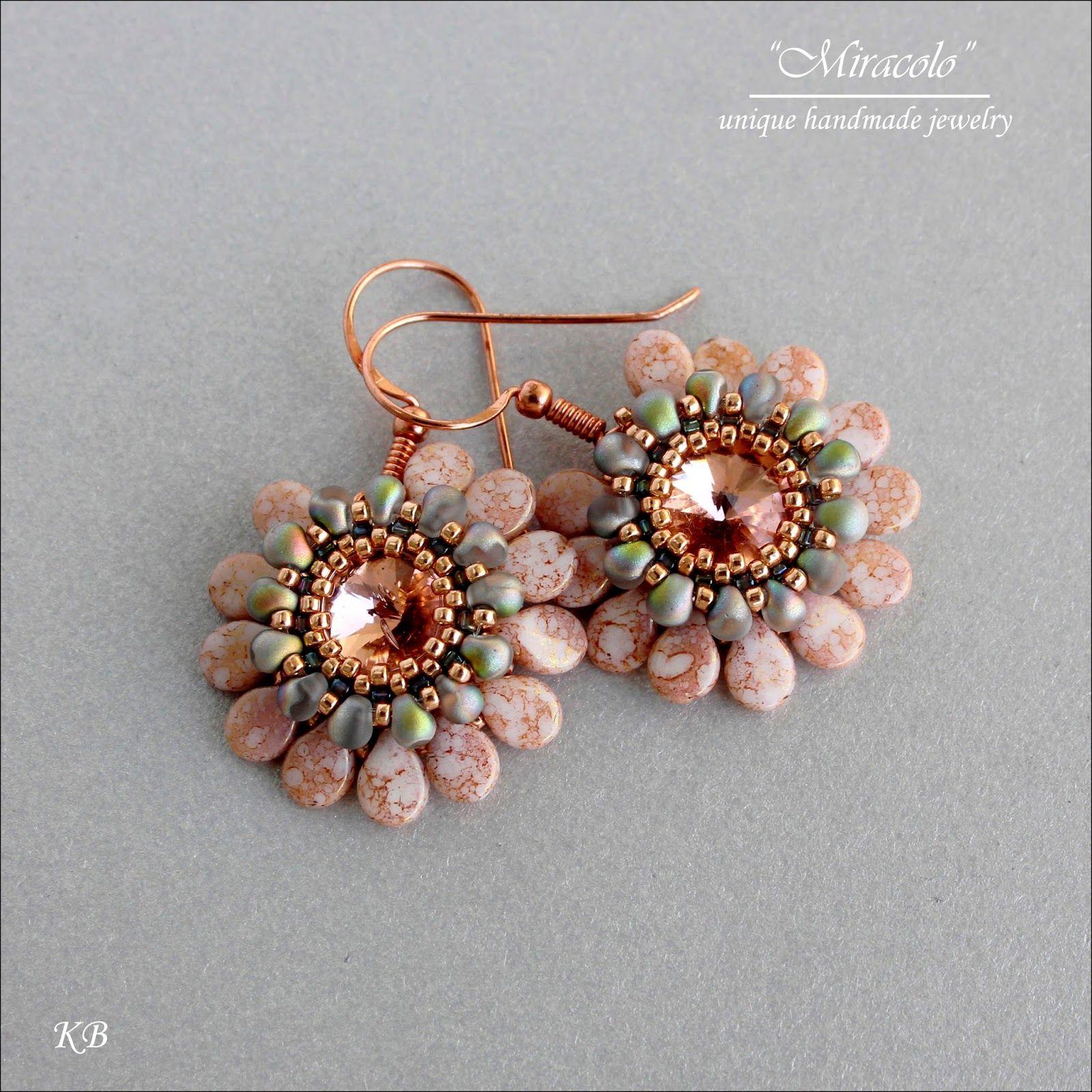 Pip bead earrings