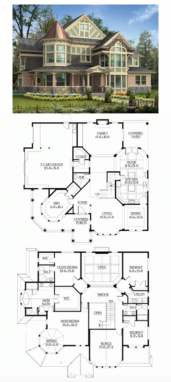 Nice Layout Victorian House Plan With 3965 Square Feet And 4 Bedrooms S From Dream Home So Victorian House Plans Basement House Plans Sims House Plans