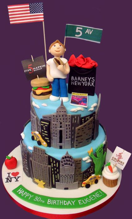 Cool NYC Themed Cake