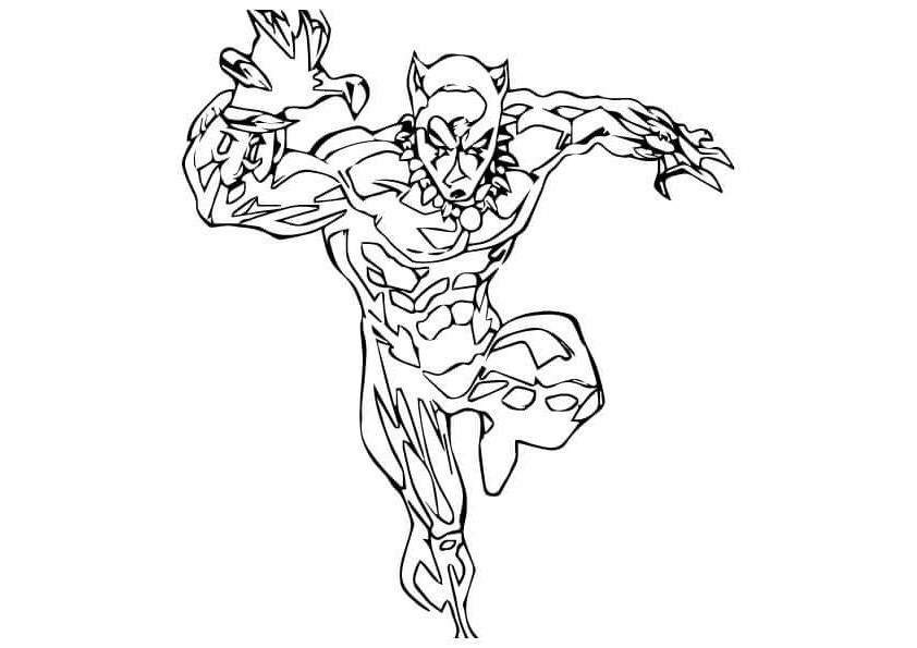 Free Pintable Black Panther Coloring Pages To Print Free