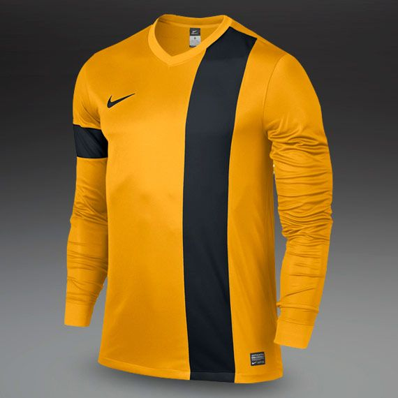 Nike Striker III Long Sleeve Football Shirt - Mens Football Teamwear -  University Gold-Black