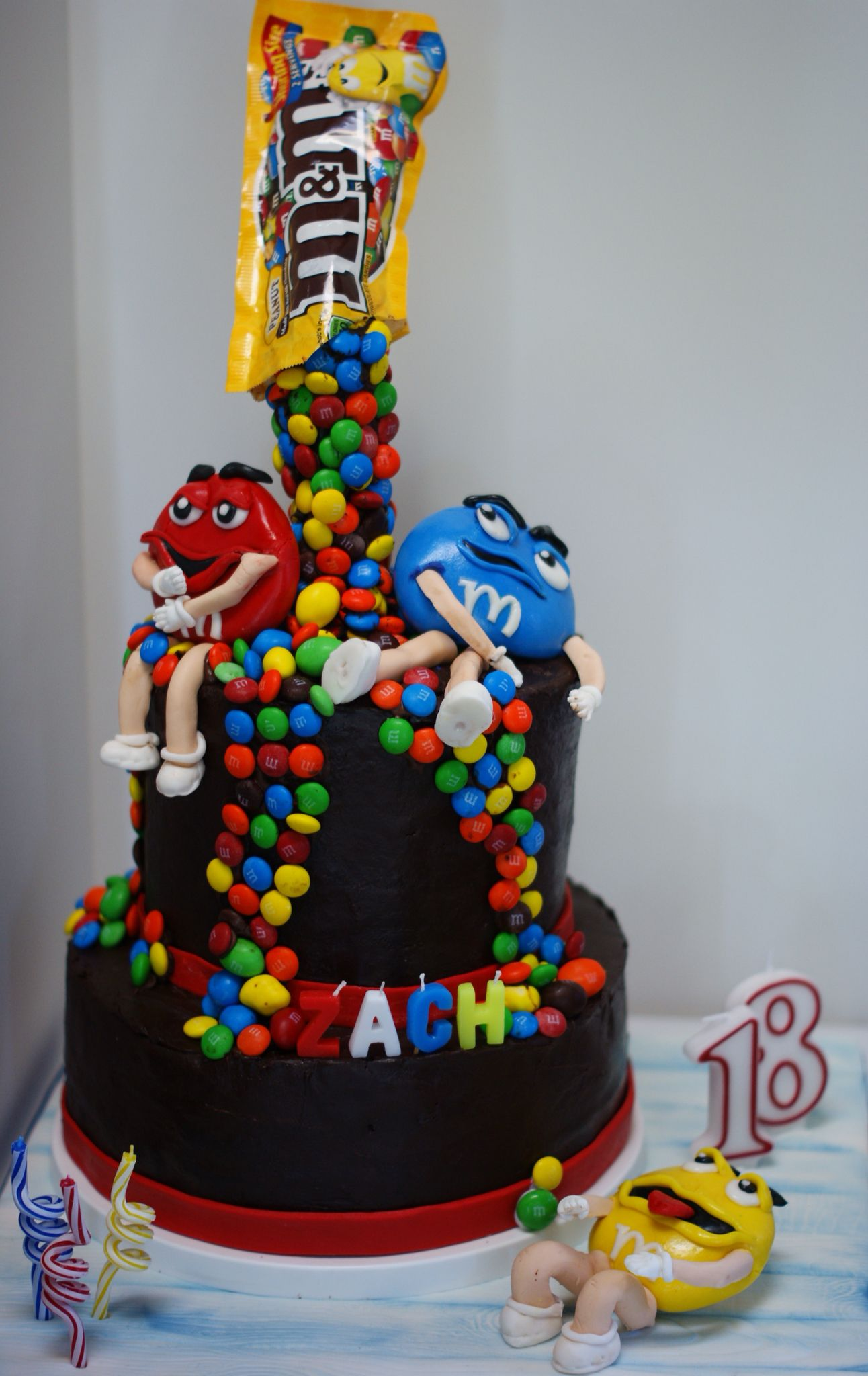 Chocolate Ganache M Amp M Cake With Fondant Figures
