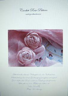 Erdbeerdiamant Häkelrosen Häkeln Rosen Pinterest Crochet