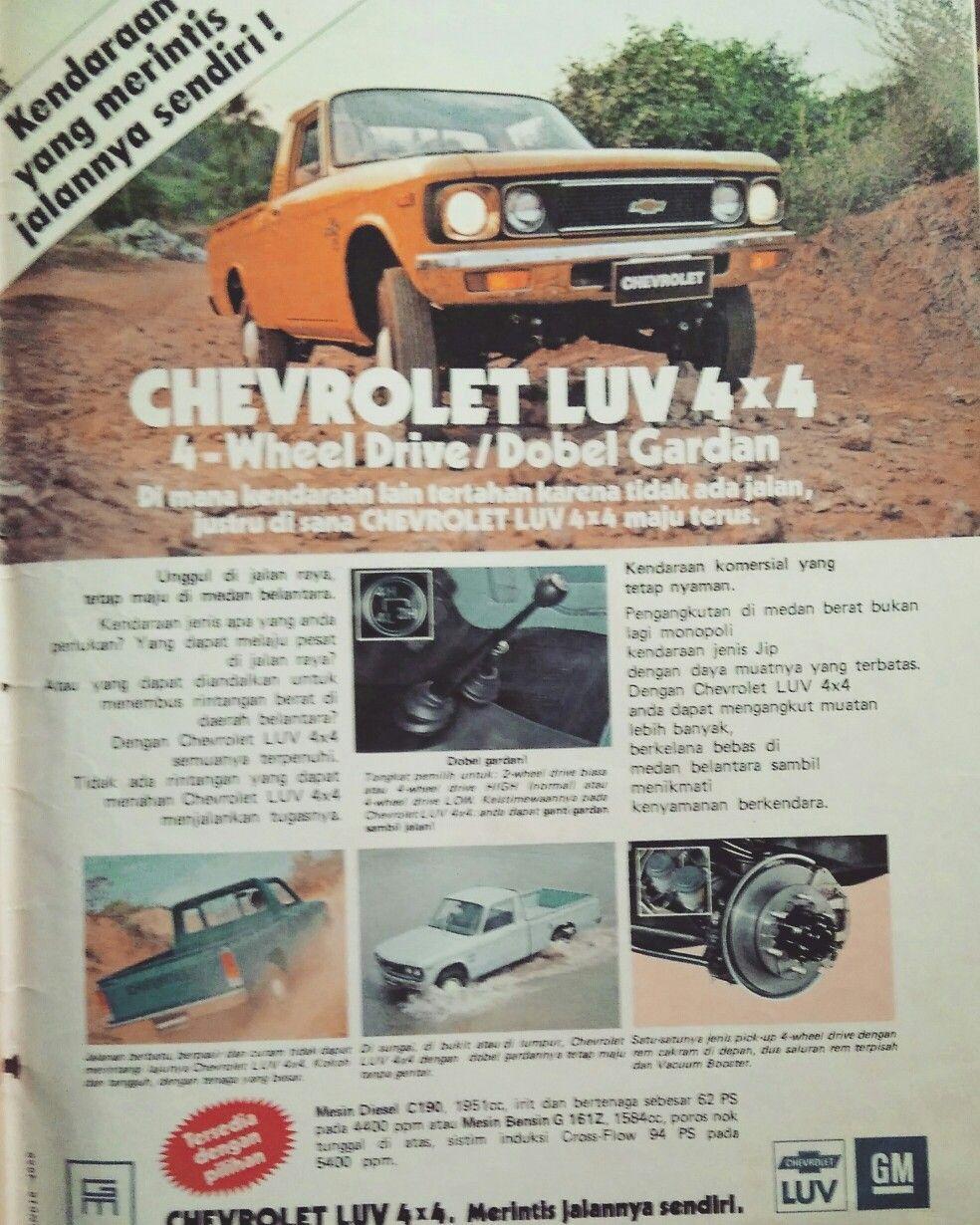 Iklan Chevrolet Luv Generasi 1 Chevrolet Kendaraan Pertahanan