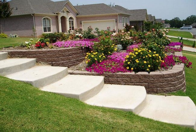 20 Perfect Front Yard Landscaping Ideas For Spring Sloped Backyard Front Yard Landscaping Design Sloped Garden
