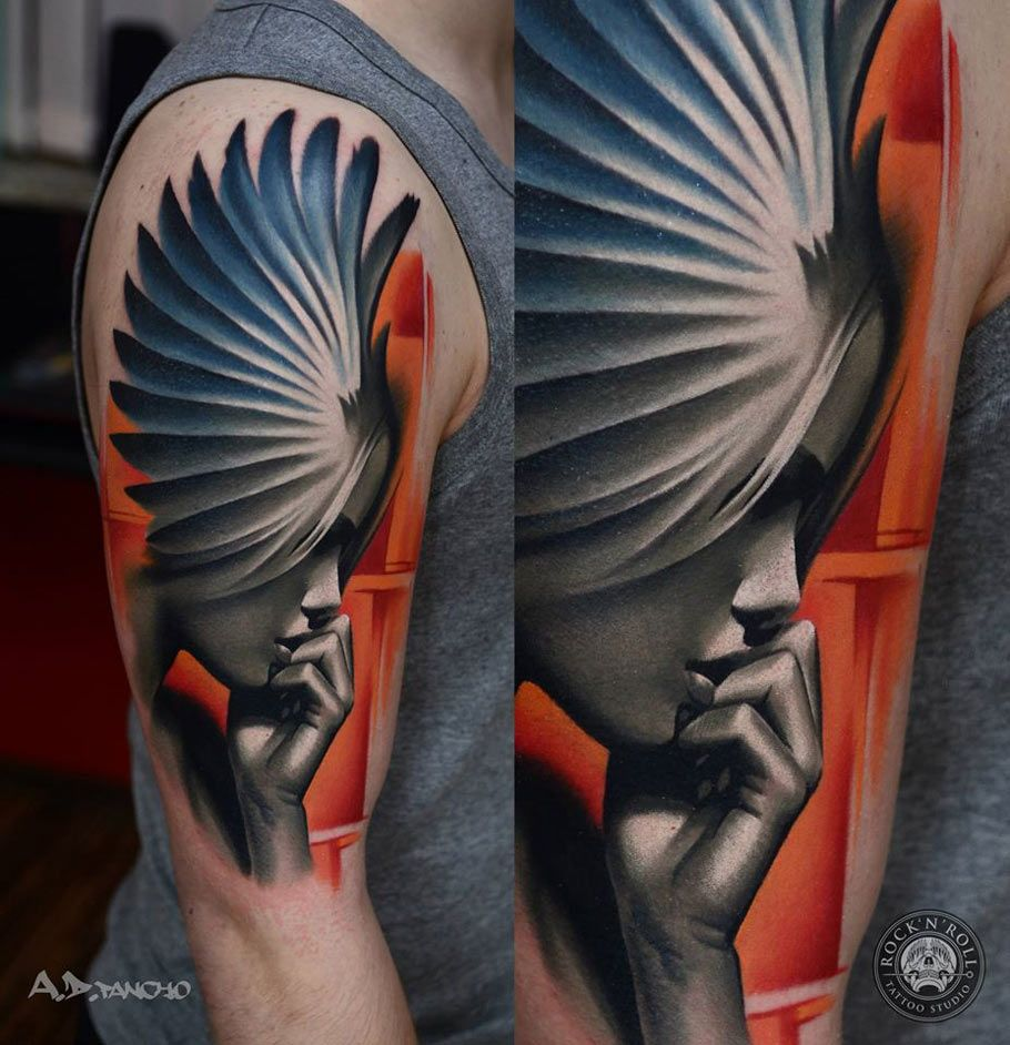 Angel Portrait | Best tattoo design ideas | Projects to Try ...