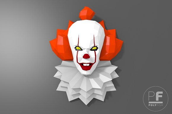 DIY Pennywise 2017 3D model template (With images