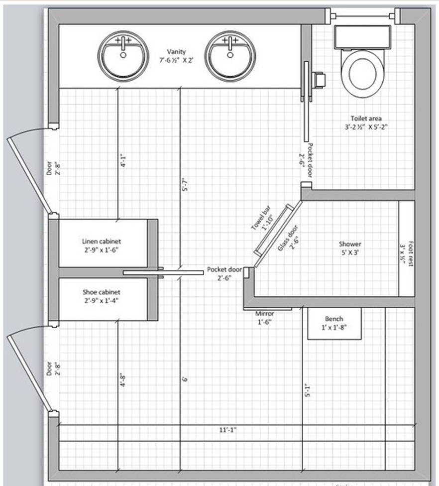 Master Bedroom Addition: نتيجة بحث الصور عن diseño De Baños Con Closet Y Planos En