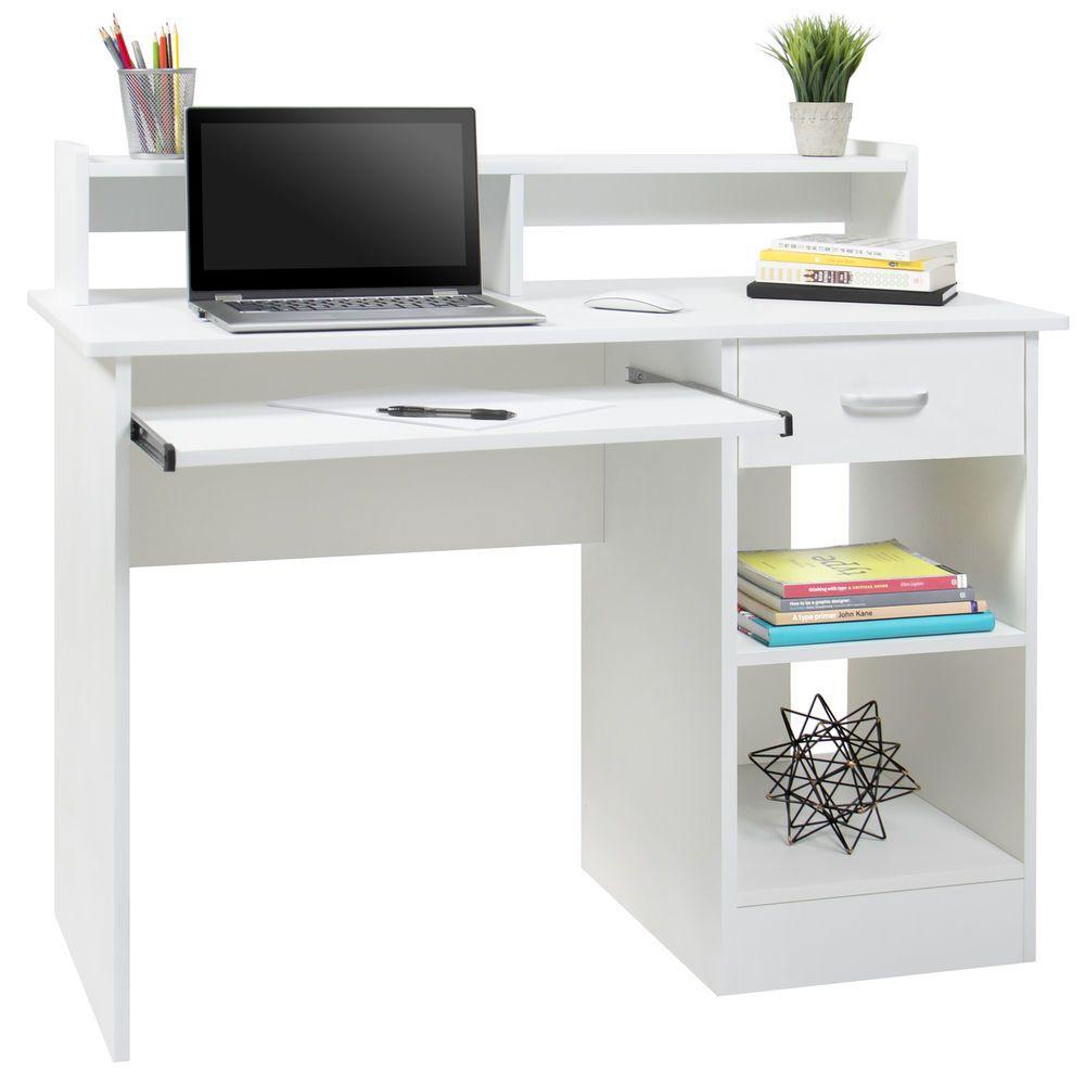 College Computer Workstation Desk Dorm Room Furniture W