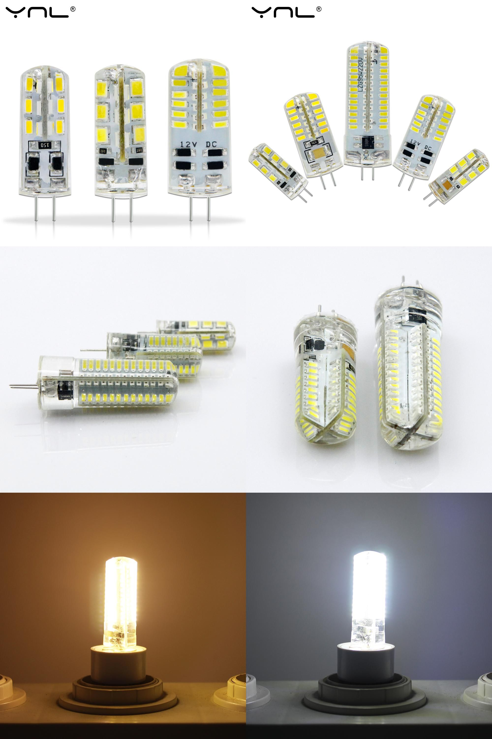 Visit To Buy Ynl Led G4 3014 Smd 3w 2w 1w Dc 12v G4 Led Lamp 20w Halogen Lamp G4 Led 12v Corn Bulb Silicone Lamps Cha Halogen Lamp Chandelier Lighting