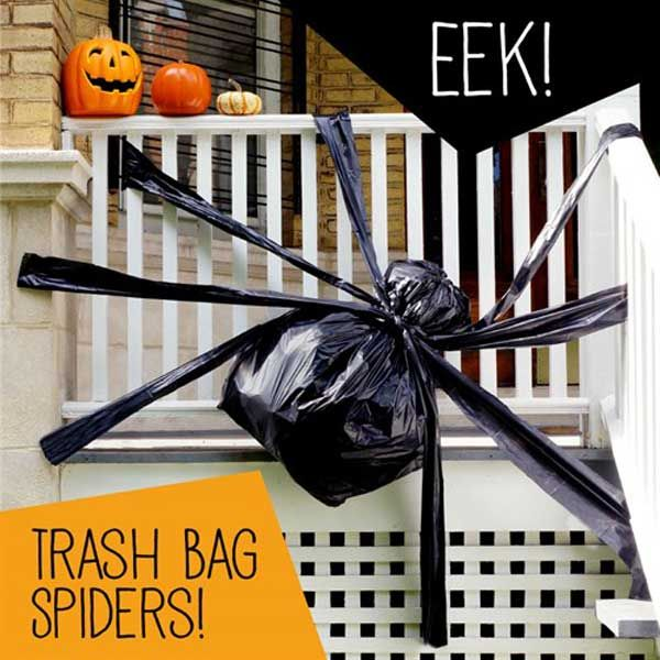 26 diy ideas how to make scary halloween decorations with trash bags - Office Halloween Decor