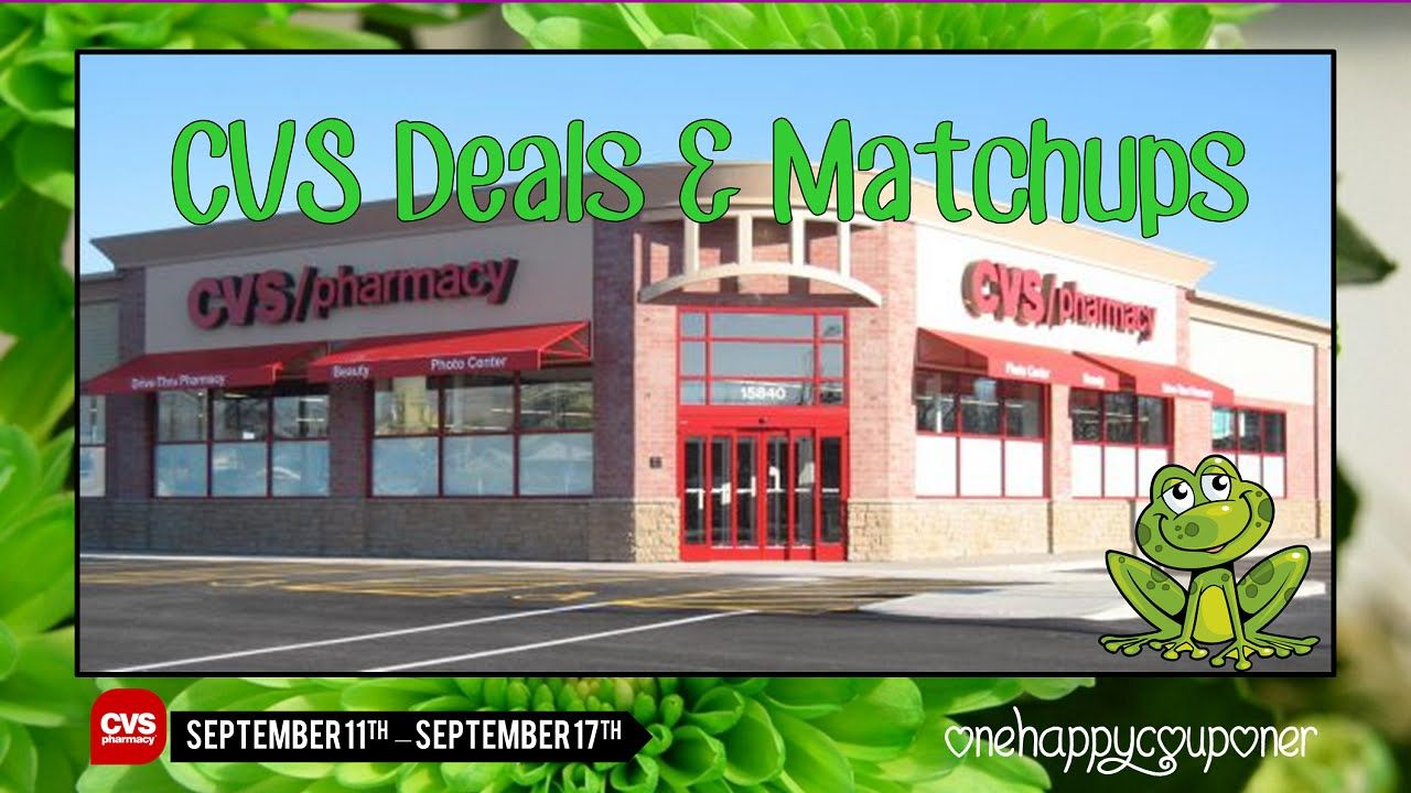 CVS Deals & Matchups Starting 9/11/16 OneHappyCouponer