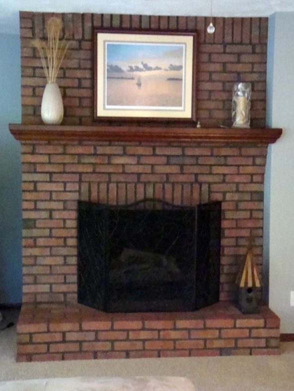 Brick Fireplace Paint – I Never Expected These Results ...