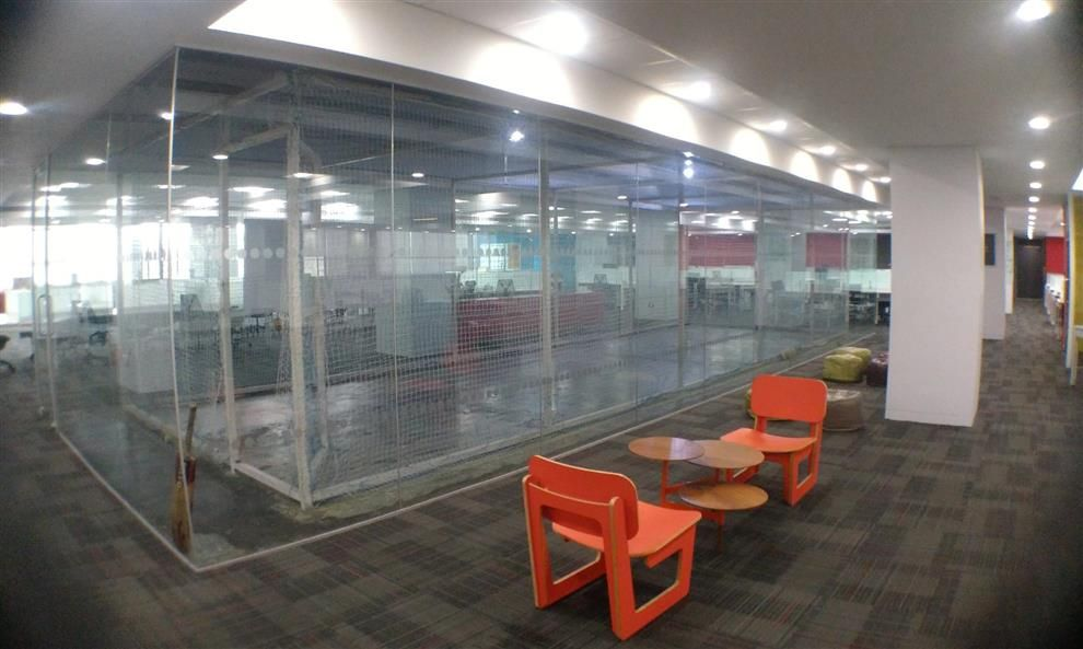Indoor Cricket In Corporate Office Interior By Sachchit