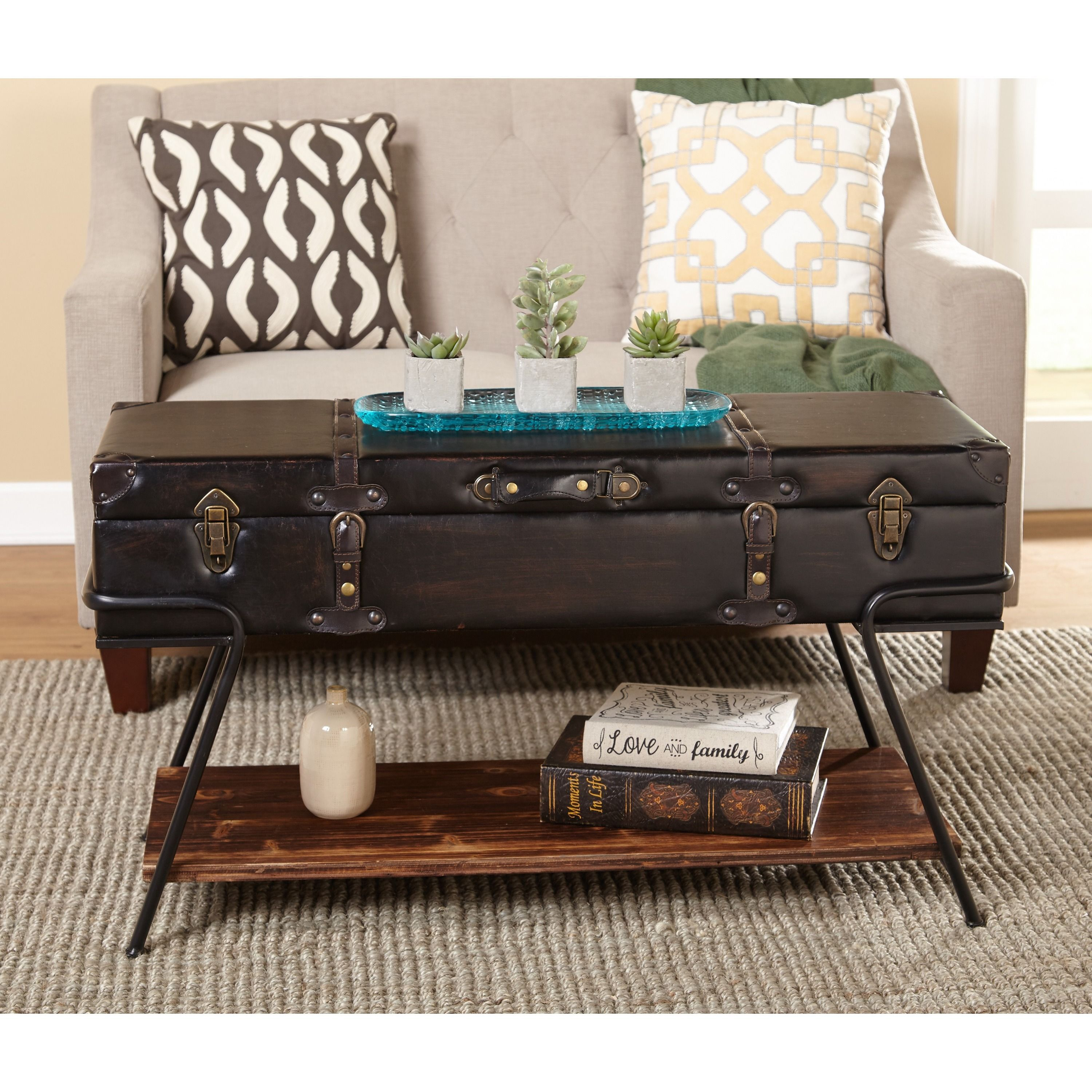 Simple Living Trunk Coffee Table Trunk coffee table Brown