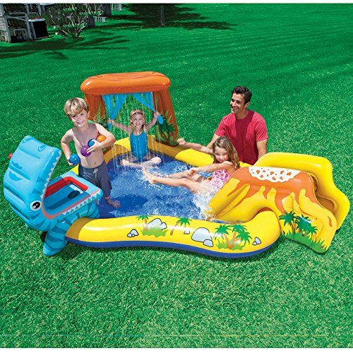 Intex Dinosaur Inflatable Play Center 98 X 75 X 43 For Ages 2 Children Swimming Pool Kiddie Pool Play Centre