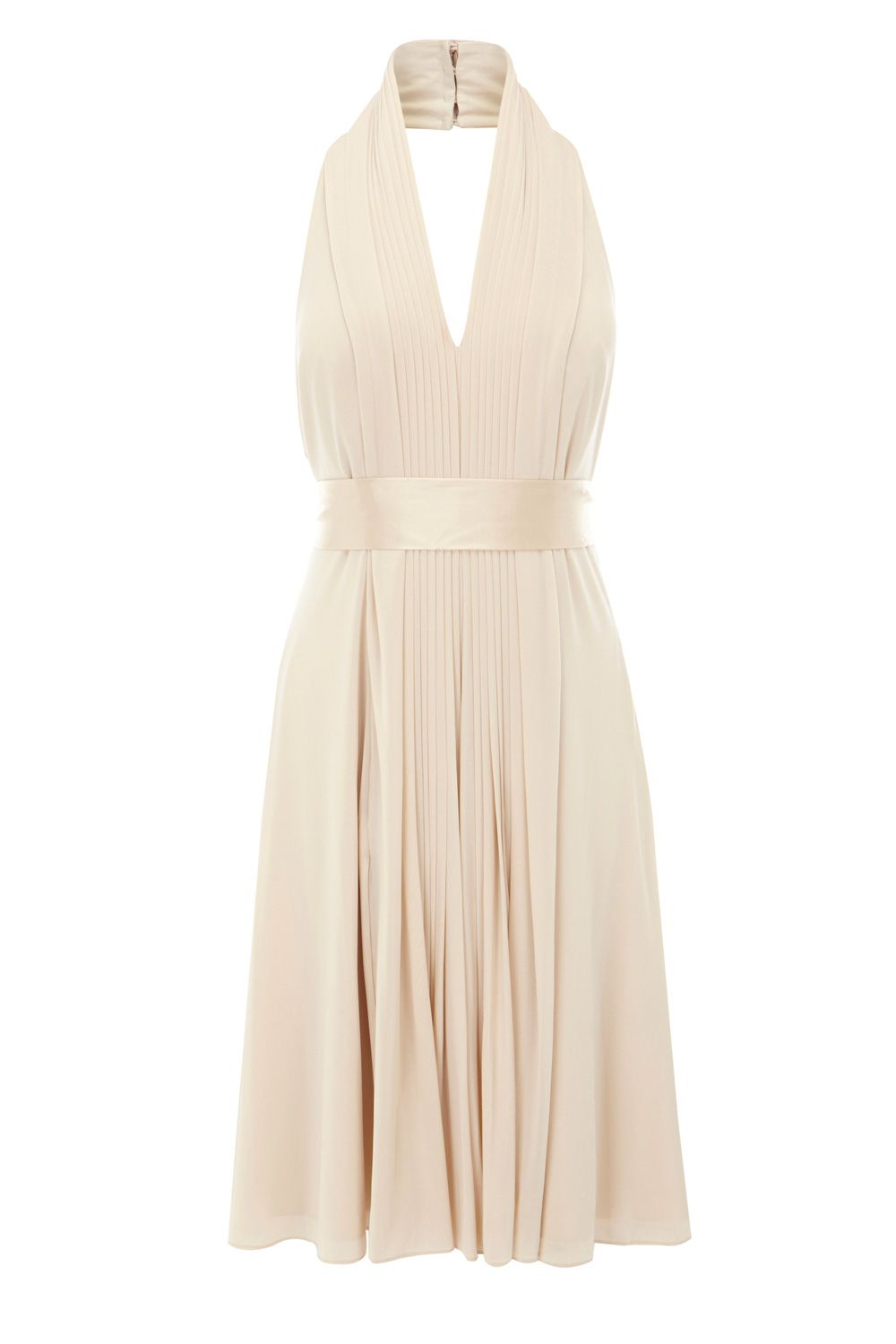 Classic halter dress.  reminds me of Marylin Monroe