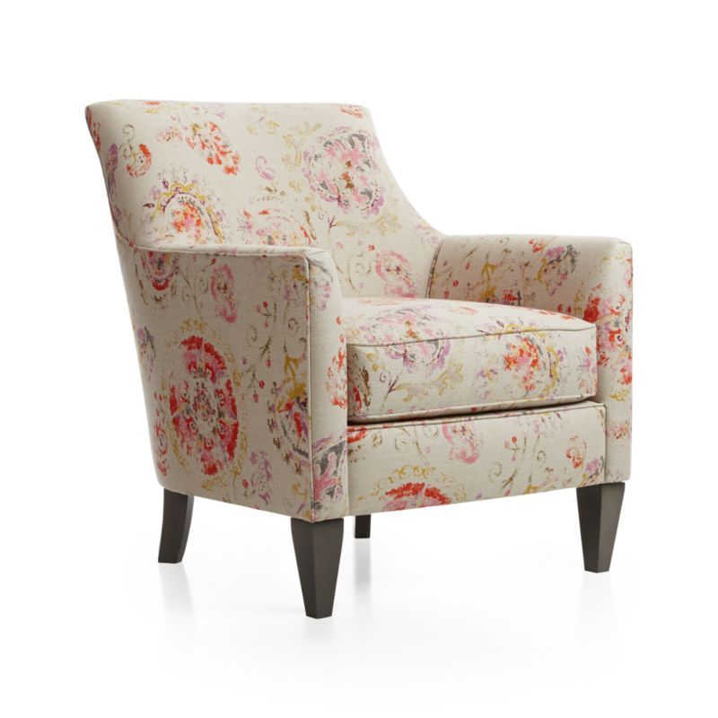 Another Pretty Fabric Clara Chair Crate And Barrel