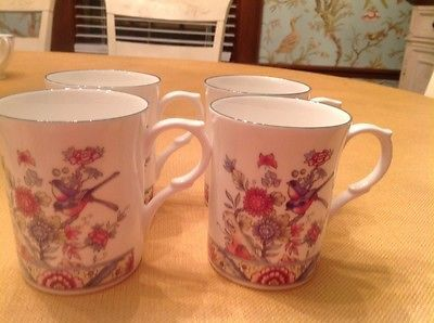 4 kingsbury #royal staffordshire fine bone #china floral birds made in #england,  View more on the LINK: http://www.zeppy.io/product/gb/2/121947521960/