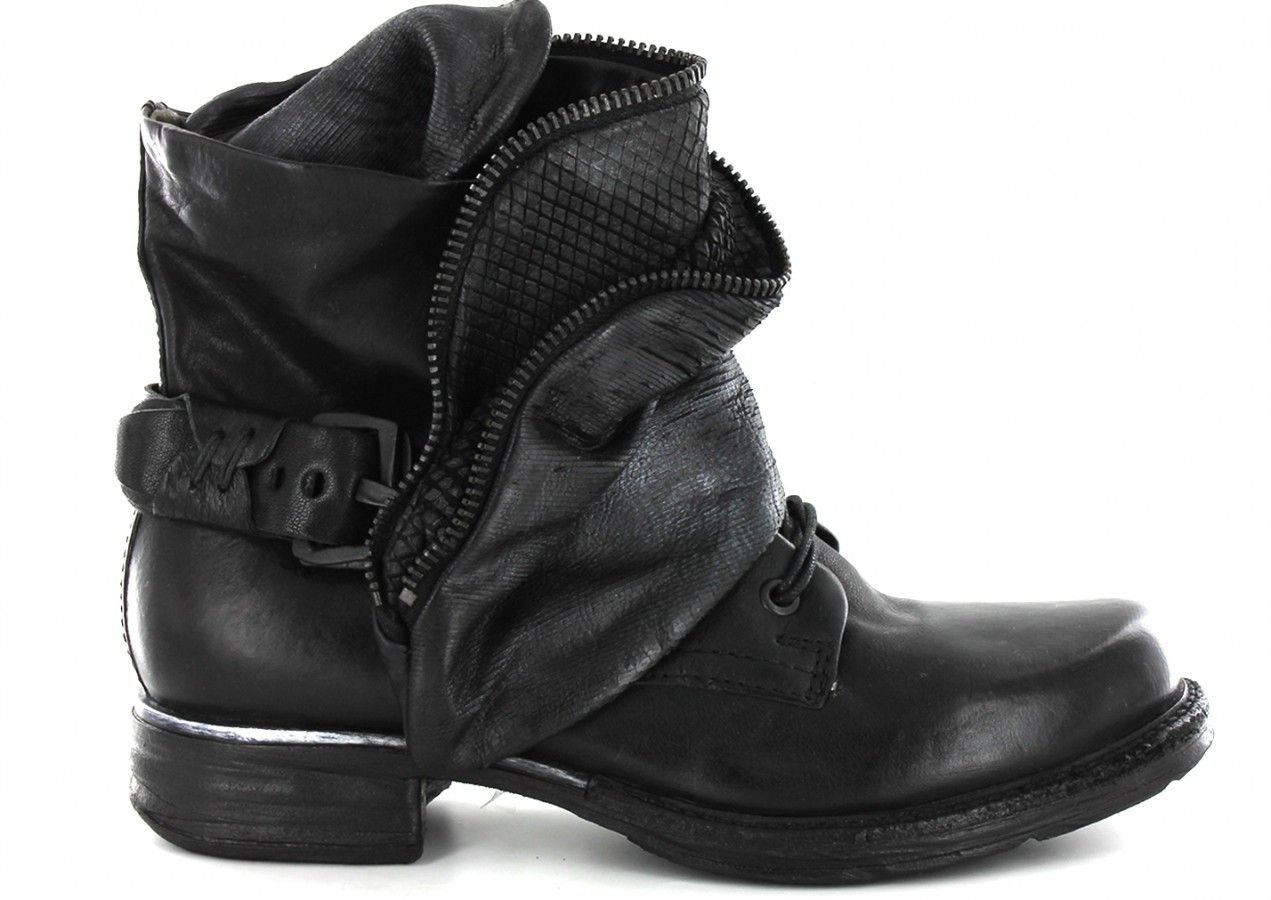 Airstep AS.98 717253 Noir, Bottines Boots | Carré Pointu