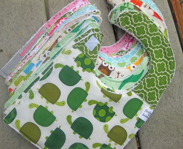 A Dozen Bibs Baby Sewing Burp Cloth Diapers Sewing For