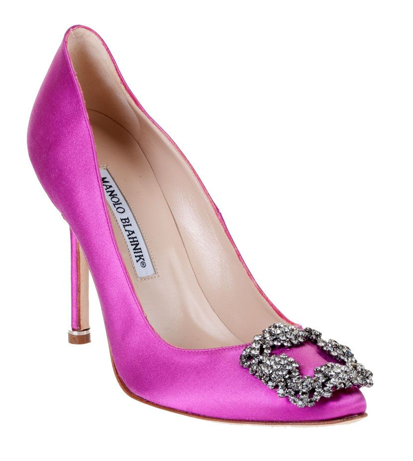 47fb11f627a5 Best-Brand Limit Offer Best Choice Manolo Blahnik Lovely Hangis Jeweled Pink  Satin Wedding Shoes
