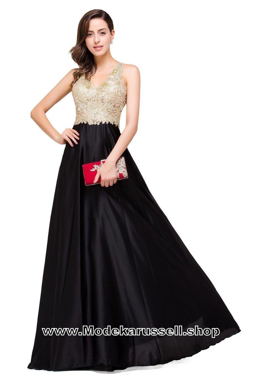 Gold spitze vausschnitt abendkleider lang schwarze kleider