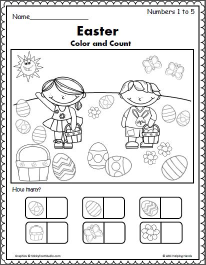 Easter Counting 1 to 5 | Logico matematico, Relaciones y Terapia